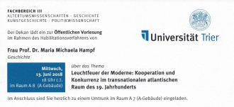 Antrittsvorlesung Universität Trier